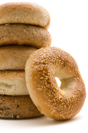 Most bagels have wheat